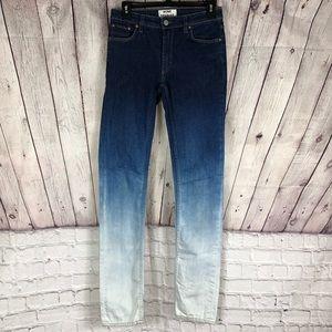 ACNE STUDIOS Flex S Degrade Skinny Mid Rise Jean
